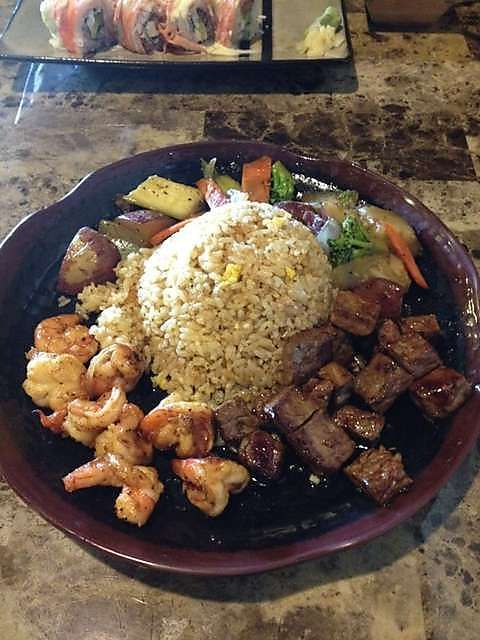 Hibachi Steak and Shrimp--- i'm pretty sure that this is my favorite meal..ever!! :-)