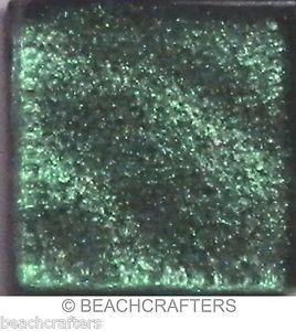 20 - 3/4 inch IRIDESCENT Juniper Green Metallic Glass Mosaic Tiles