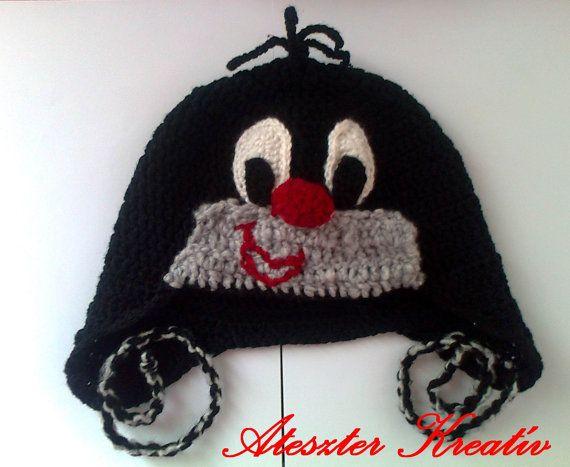 Little mole hat baby mole ear flap beanie newborn by paintcrochet, $25.00