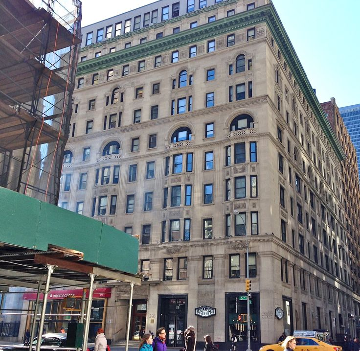 Step into the remains of a Gilded Age hotel, Today, unlike the original Waldorf-Astoria, Holland House at 5th Avenue and 30th Street still stands. Its façade is remarkably unchanged, and mysteriously there is a marble staircase and ornamental motifs in marble visible in the lobby.