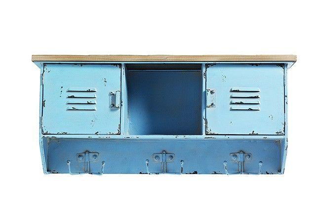 Hatthylla plåt, blå