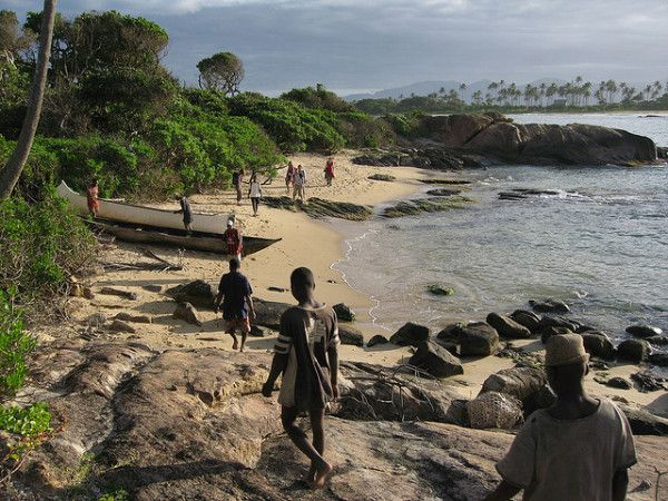 Interesting Facts About Madagascar: Locals & Tourists near Sainte Luce