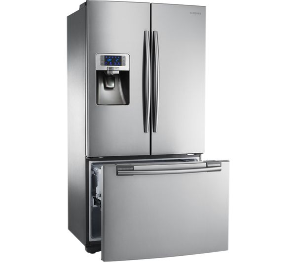 Buy SAMSUNG RFG23UERS American-Style Fridge Freezer - Silver | Free Delivery | Currys