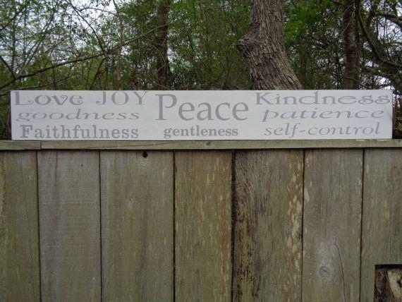 Galatians Sign, Fruit of the Spirit Sign, Love Joy Peace Sign