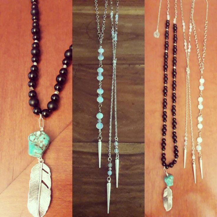 Bijoux largos #onix #piedraluna