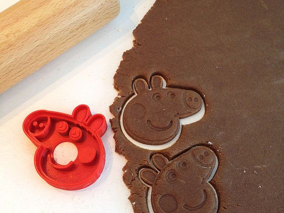 Peppa Pig Cookie Cutter by 3Dexpressions on Etsy
