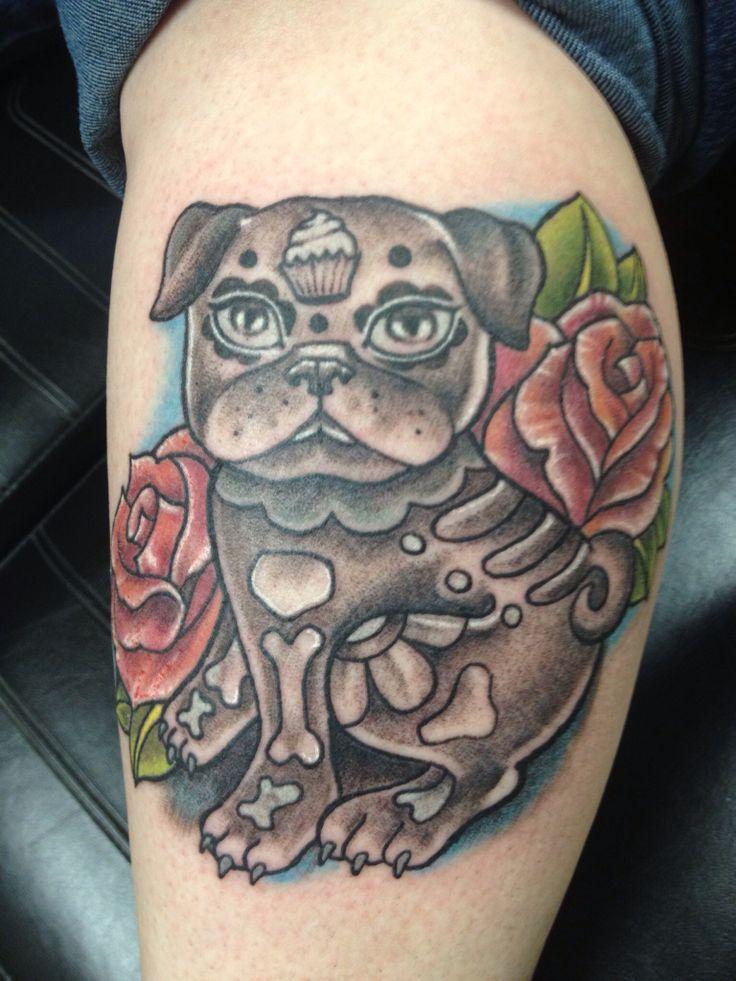 Tattoo by Lisa Strange #tattoo #pug