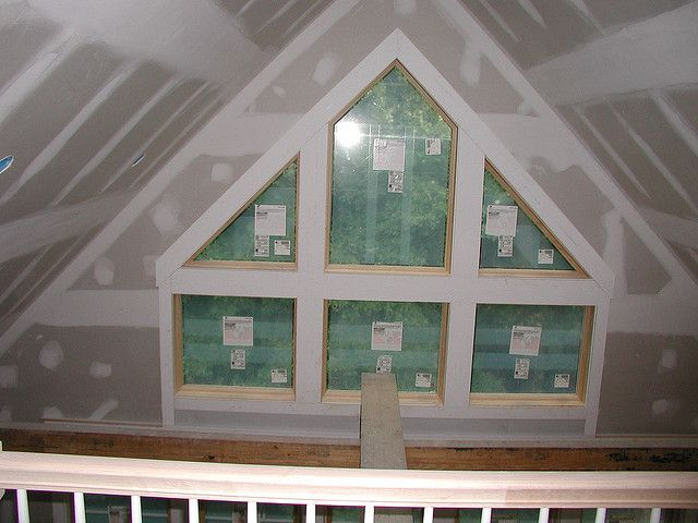 gable end windows top half of window with middle square opening | Home  Design | Pinterest | Window, Attic inspiration and Attic