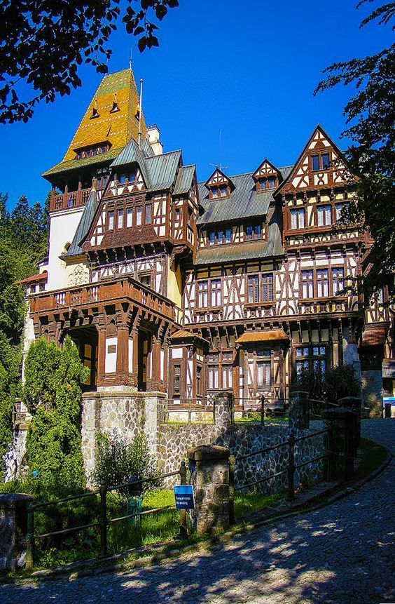 The Pelisor Castle in Sinaia, Romania.