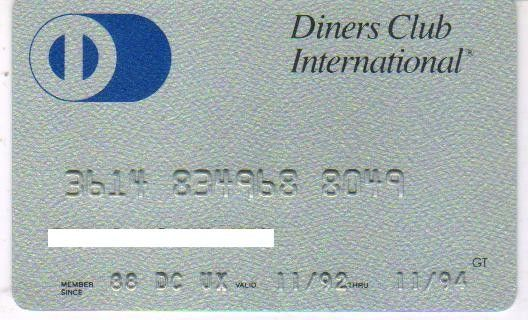 Diners Club International (Diners Club International, Finland) Col:FI-DC-0001