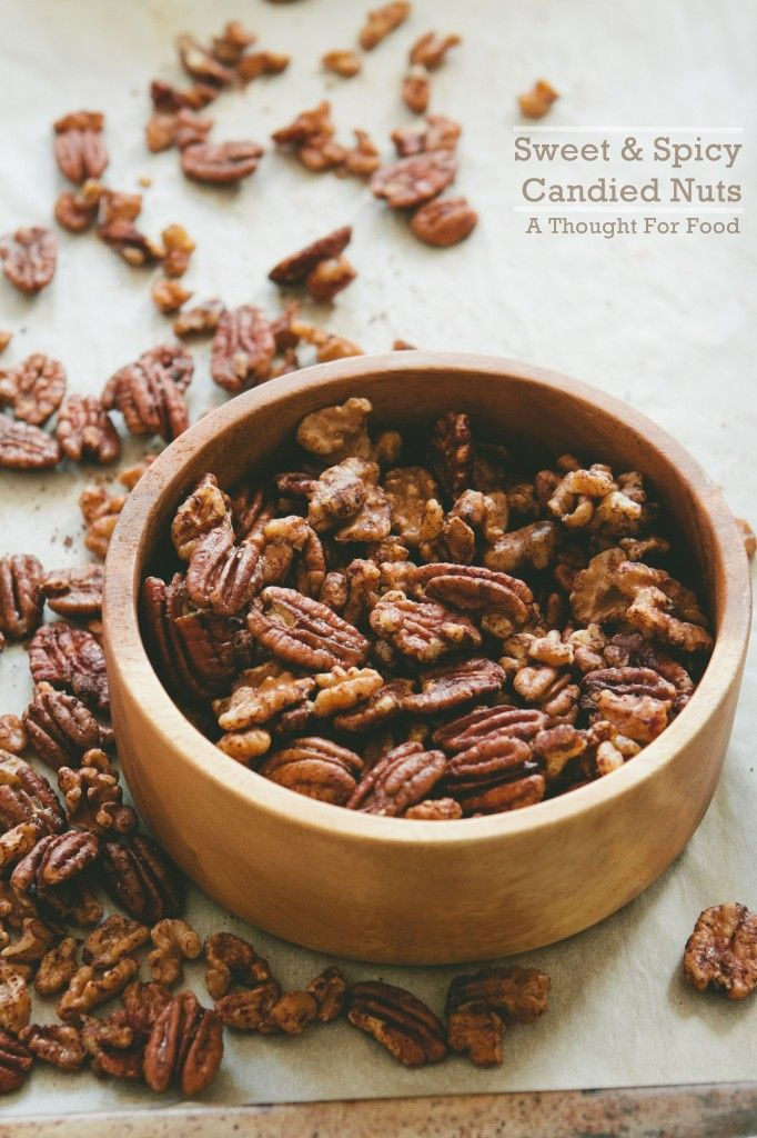 Sweet and Spicy Candied Nuts - A Thought For Food