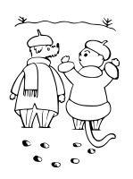 Pejsek a kočička ve sněhu
