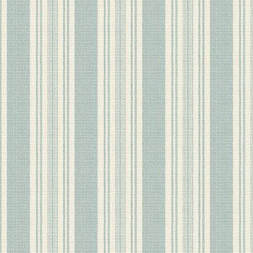 Aqua & Ivory Handwoven Stripe Fabric rustic-upholstery-fabric