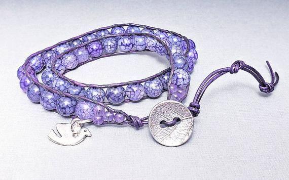 Dragon Vein and Amethyst Bracelet