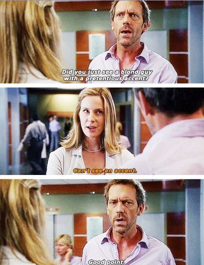 The Right Stuff: Season 4 Episode 2: originally broadcast on Fox on October 2, 2007 | Dr Amber Volakis (Anne Dudek) and Dr. Gregory House ( Hugh Laurie)