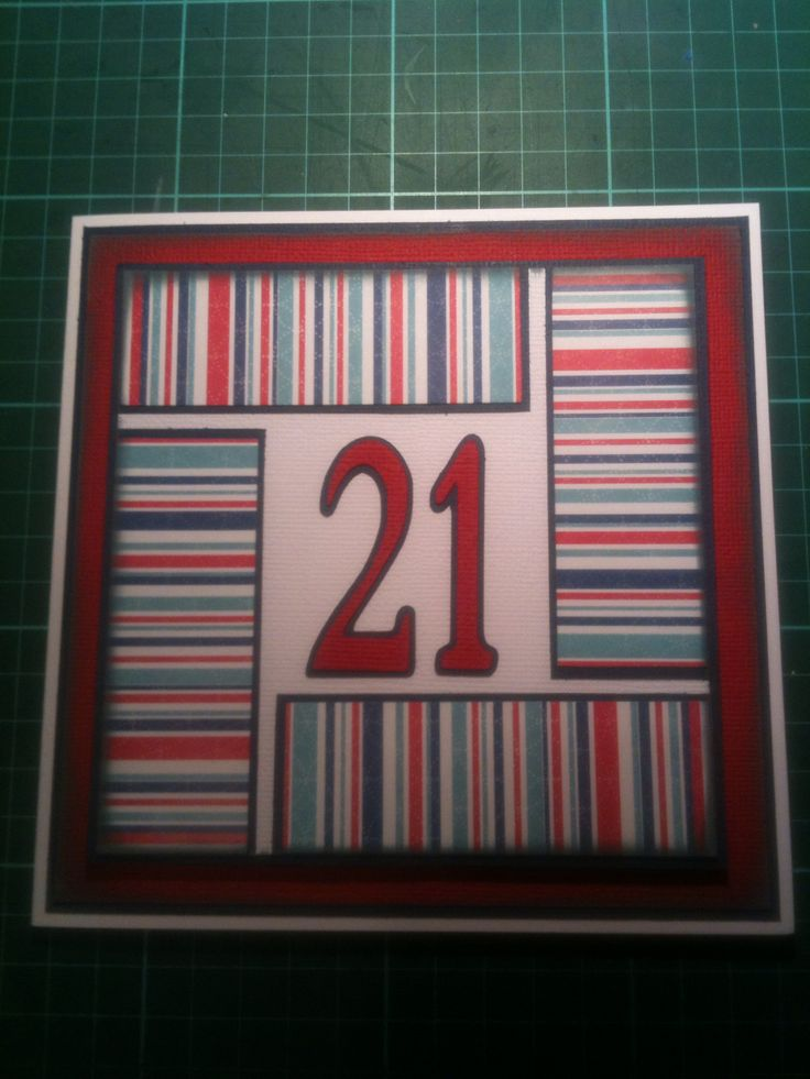 Homemade 21st Birthday Card