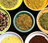 Create your own spice mix with herbs and spices- food spice chart.
