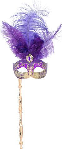 mardi gras feather masks on a stick - Google Search