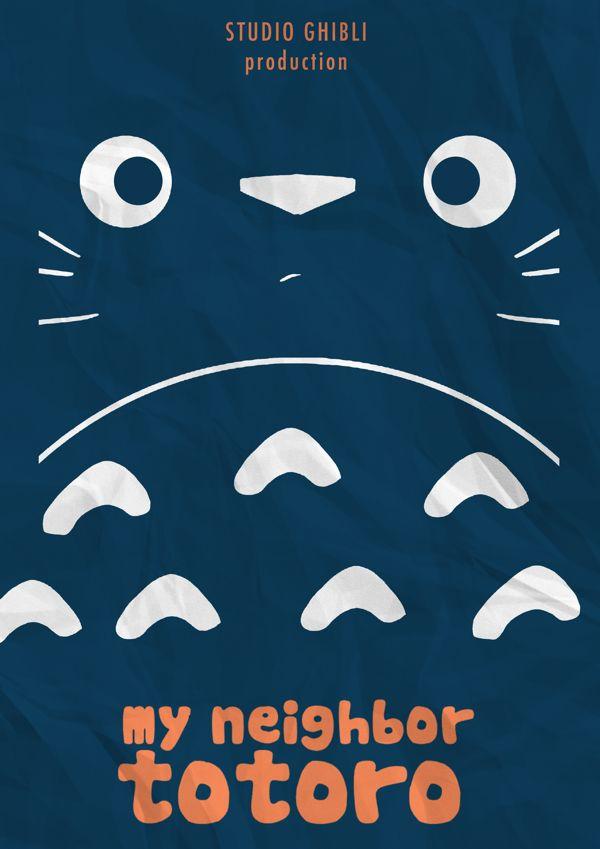My Neighbor Totoro Poster Artwork by Omer Aldemir by omeraldemir