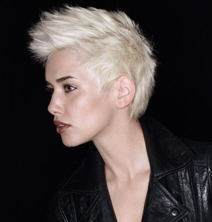 Short, punk, and blonde. This really makes me want to cut my hair again!
