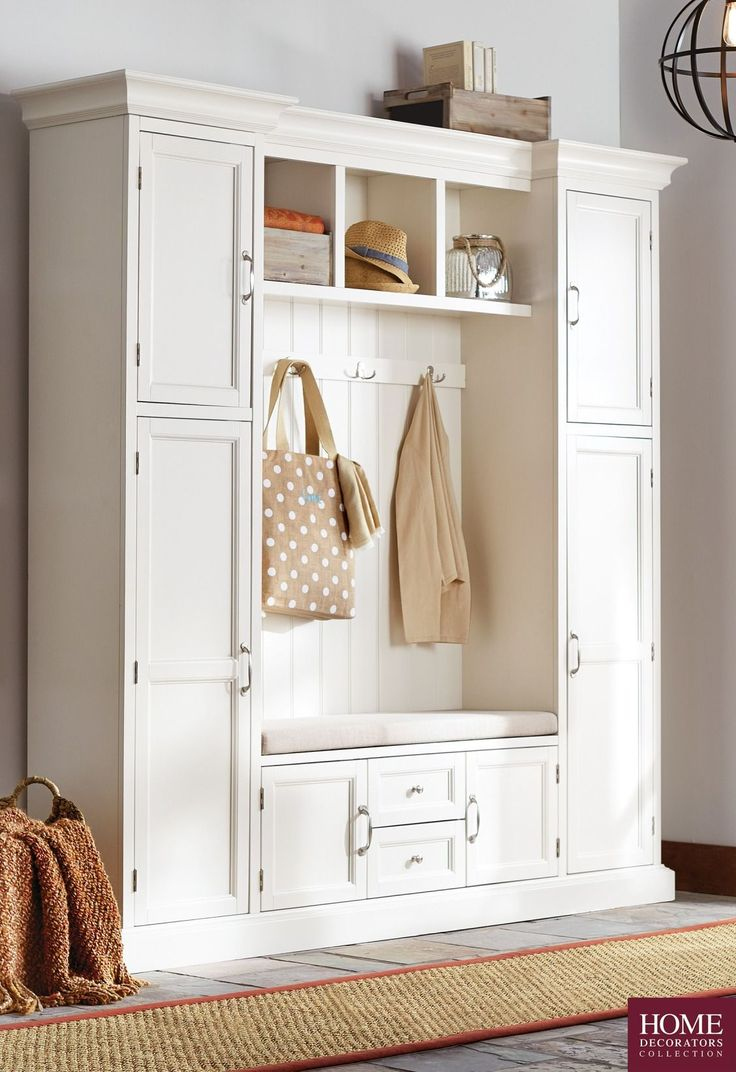 With summer winding down, getting organized for fall is a must! Start with the entryway or mudroom. Our Royce Hall Tree by Home Decorators Collection makes it easy to have the house organized when you step through the door. It has a storage bench with comfy cushion, which gives you a place to sit when putting on and off your shoes. Not to mention plenty of cubbies, cabinets and drawers. Not to mention it has great style. Shop Home Decorators Collection at The Home Depot.