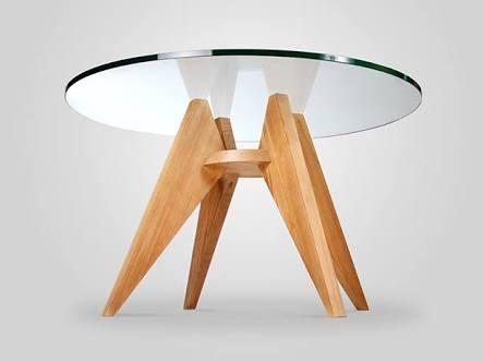 design mesa redonda centro vidro - Buscar con Google