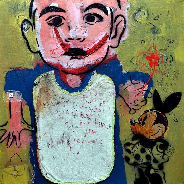 """infanzia"" mixed media on canvas 60x60cm | 2015.jpg"