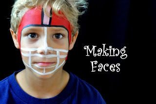 Football face paint for Axel