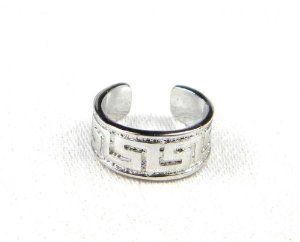 Sterling Silver Greek Key Band Ear Cuff Pierceless - A classic Greek symbol.  $21.95