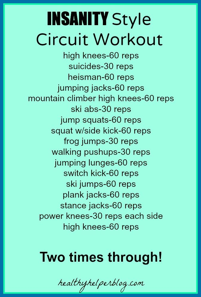 Insanity Style Circuit Workout-healthyhelperblog.com