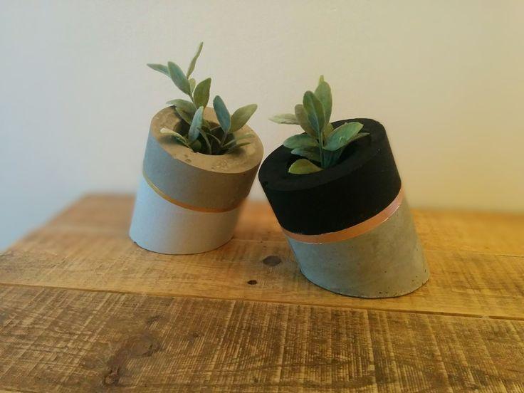 Le Tube, pot béton : Accessoires de maison par la-bricolette