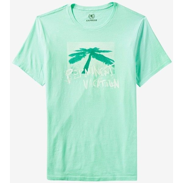 Express Permanent Vacation Graphic Tee ($21) ❤ liked on Polyvore featuring men's fashion, men's clothing, men's shirts, men's t-shirts, blue, mens graphic t shirts, mens double layer t shirt, men's cotton short sleeve shirts, mens blue t shirt and mens short sleeve shirts