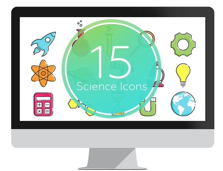Science Icons set for PowerPoint. Exclusive, 100% editable; change colors and scale them without losing quality. The This is the must-have icons set for teachers. #powerpoint #education #presentation #ppt