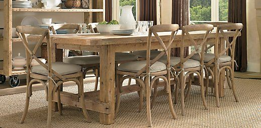Love the table:  Boards, Restoration Hardware, Woods Tables, Rustic Farmhouse, Kitchens Tables, Farmhouse Tables, Dining Rooms Tables, Salvaged Woods, Dining Tables