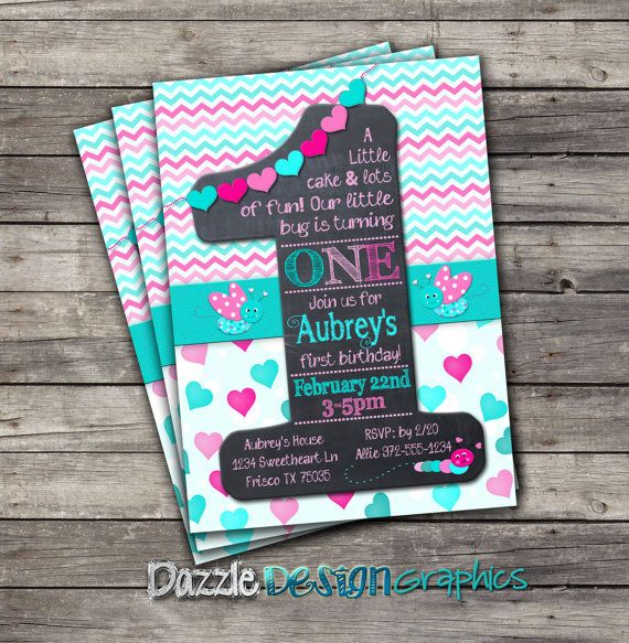 Printable First Birthday Invitation Little por DazzleDesignGraphics