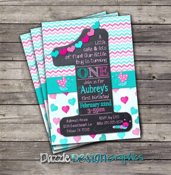Printable First Birthday Invitation Little por DazzleDesignGraphics