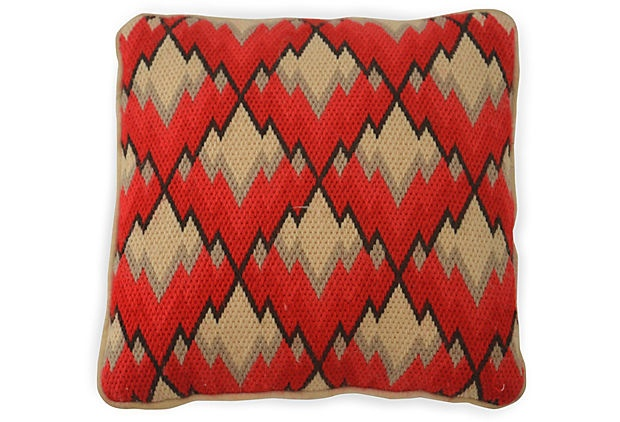 Vintage Bargello Pillow on OneKingsLane.com