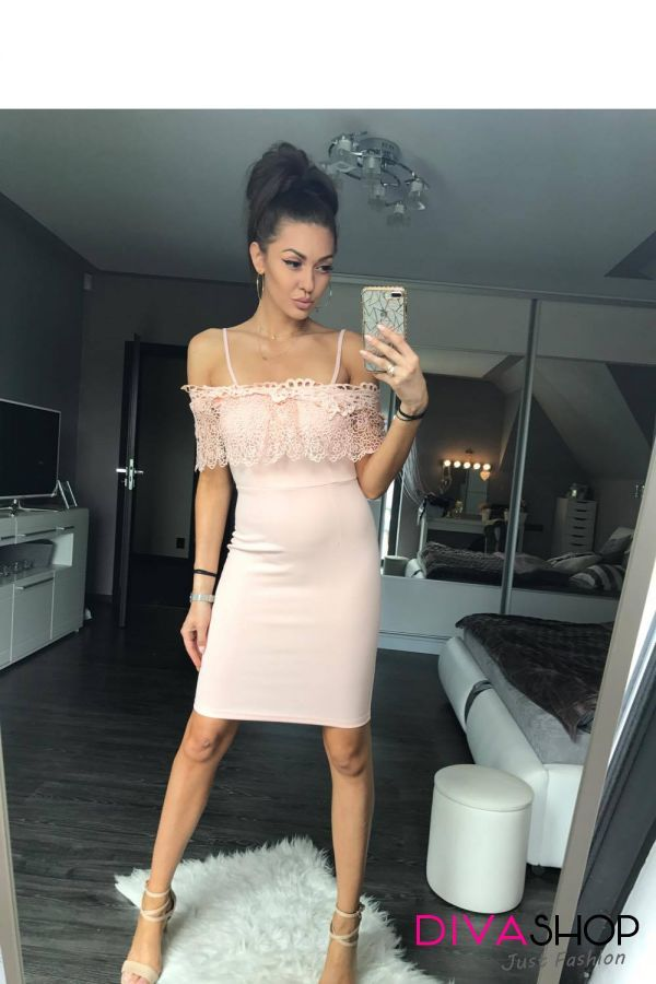 Rochie de seara eleganta roz