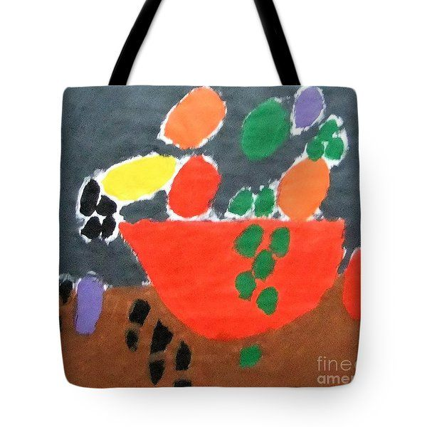 Patrick Francis - Tote Bag featuring the painting Bowl Of Fruit 2014 by Patrick Francis