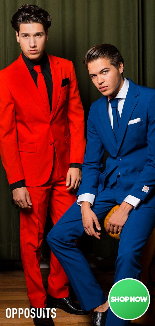 Hoco and prom suits for men, red suit for prom and