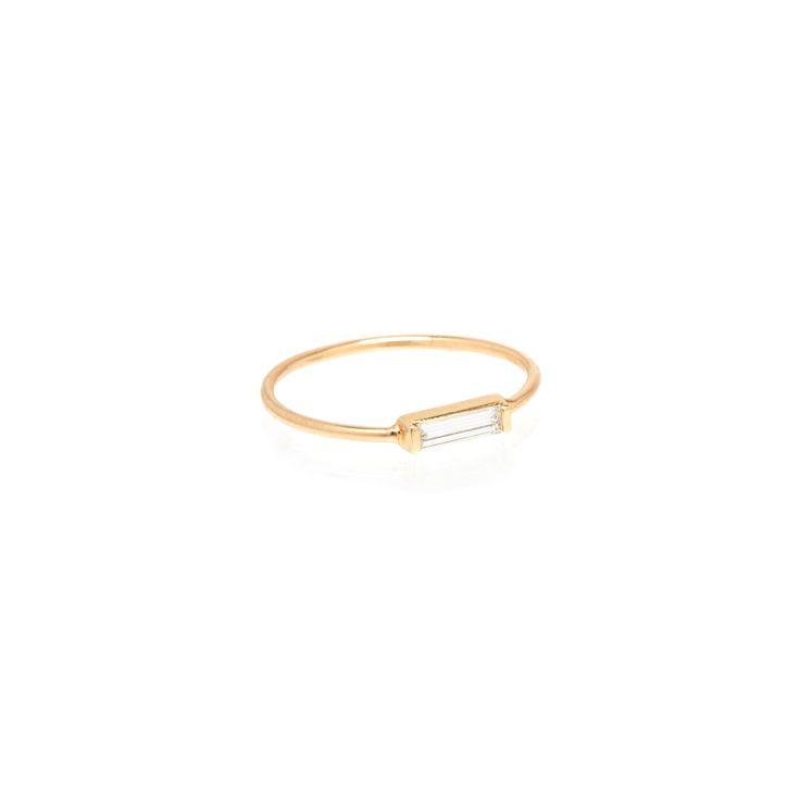 14k large baguette ring