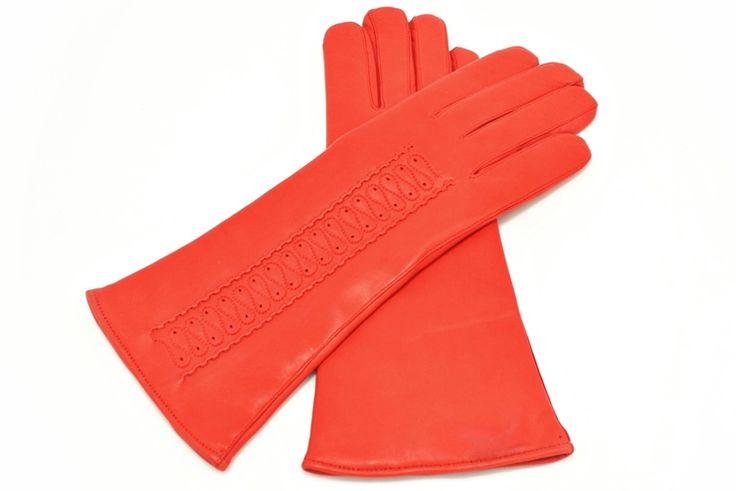 Women's leather gloves from alpagloves.com Code: 2-S44S-2-4 RED