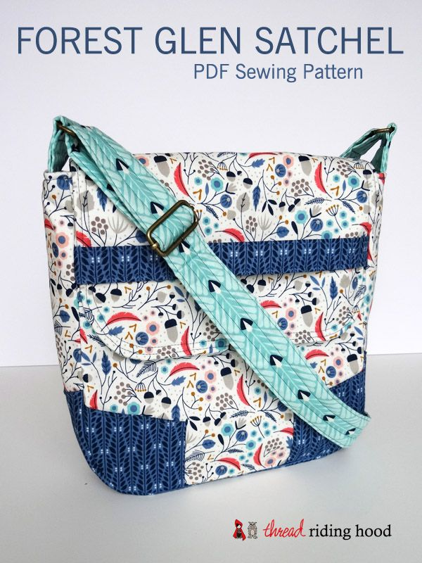 Forest Glen Satchel PDF Pattern, Thread Riding Hood - $8.50