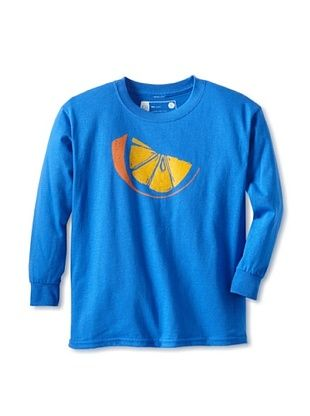 67% OFF Little Dilascia Kid's Orange Slice Long Sleeve Tee (Royal)