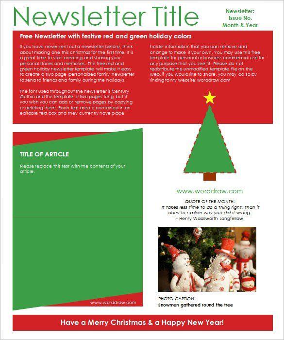 Christmas Newsletter Template