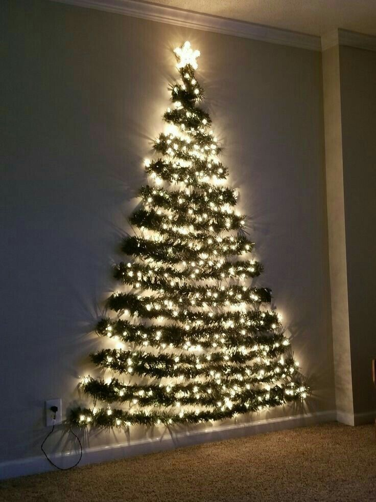 Navidad Wall Christmas Tree Easy Christmas Diy Flat Christmas Tree