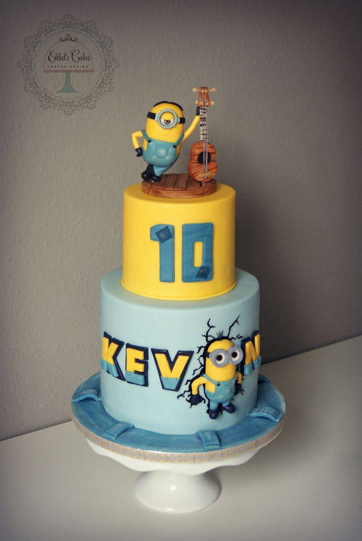 #MINIONS #kindertorte# cake #musik #minion #fondant #disney #миньоны #дисней #детский #торт #гитара  #мастика #Minion #Torte