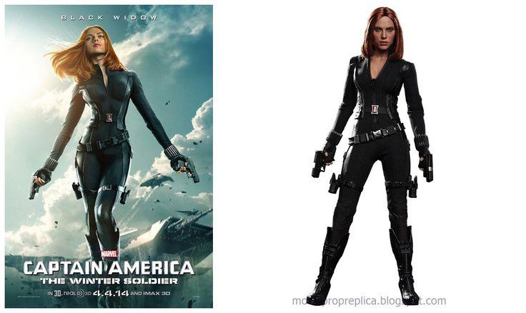 Scarlett Johansson as Black Widow in Captain America: The Winter Soldier Movie Collectible Figure