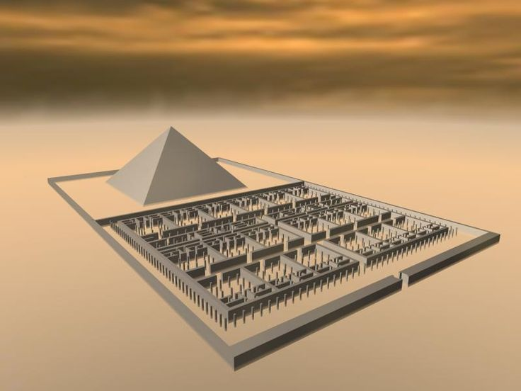 Herodotus Labyrinth Egypt | Figure 1 . The pyramid of Amenemhet III at Hawara (Image courtesy of ...