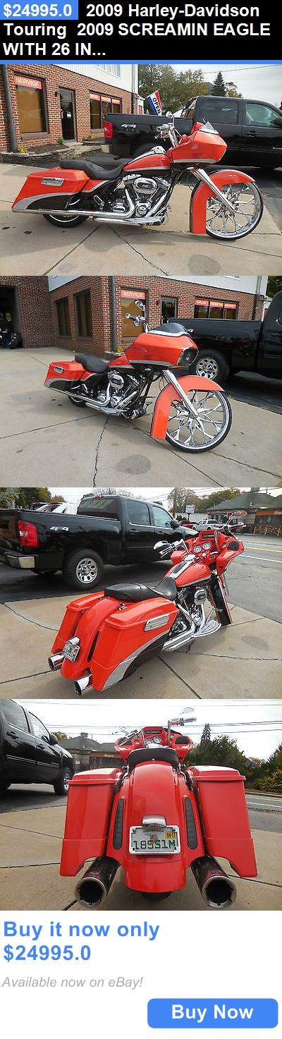 Motorcycles: 2009 Harley-Davidson Touring 2009 Screamin Eagle With 26 Inch Rim BUY IT NOW ONLY: $24995.0